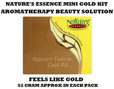 NATURES ESSENCE MINI GOLD FACIAL KIT FACIAL MASSAGE HELP TO CLEAN DEAD SKIN CELL