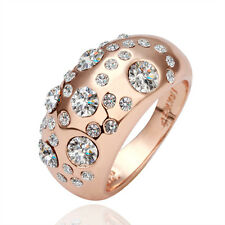 BN Women Fashion 18K Gold Plated Rings Colorful Crystal Jewelry Gift Jewelry