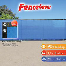 Blue 4'x50' 4ft Fence Privacy Screen Windscreen Shade Cover Mesh Fabric Pool