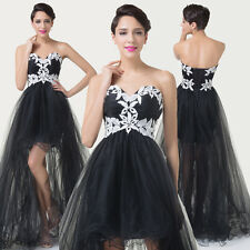 Strapless Vintage Cocktail Evening Formal Prom Party Long Maxi Bridesmaids Dress