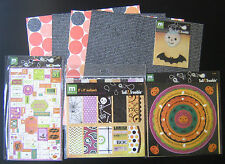 HALLOWEEN Paper Crafts: stickers, paper, brads, rub on, eyelets, border, ribbon!