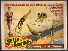 Photo Printed Old Poster Vintage Circus Show Pawnee Bill Historic Wild West 083