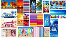 100% Cotton Large Camping Beach Gym Sauna Bath Travel Childrens Sports Towel
