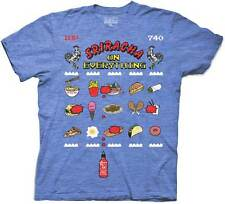 Sriracha On Everything Hot Sauce Video Game Adult T-Shirt - Blue
