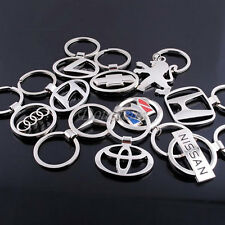 3D Fashion Car Logos Titanium Key Chain Car Keychain Ring Keyfob Metal Keyrings