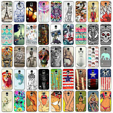Painted Cool Hard Back Skin Case Cover for Samsung S4 i9500 S5 i9600 Hot Selling