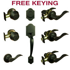 Madison Oil Rubbed Bronze Door Lever Knob Hardware