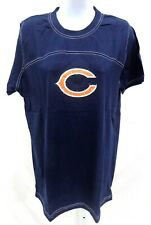 Chicago Bears Football Adult C Jeweled Short Sleeve Shirt Navy New
