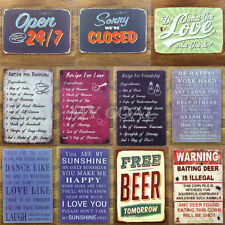 Vintage Metal Sign Tin Poster Tavern Bar Coffee Pub Retro Home Wall Decor Plaque