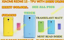 xiaomi redmi 1s TPU strong protective case silicon cover matt with dust plug