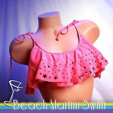 VICTORIA'S SECRET PINK Laser Cut Stars and Stripes Flounce Crop Top ONLY
