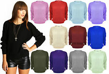 WOMENS LADIES JUMPER OVERSIZED BAGGY KNITTED SWEATER CHUNKY CARDIGAN PLUS SIZE