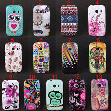 Owls Tribal Flowers Star Soft Skin Case Cover For Samsung Galaxy Ace Style G310