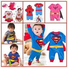 New Baby Girl Boy SuperHero onepiece costume Romper 3M-24M spiderman/batman