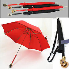 Unisex Creative skull Long handle umbrella Super strong Anti UV Parasol Fashion