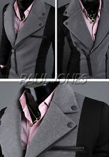 Unique Side Zip Men's blazer jacket Trench Jackets Windbreaker Coats PJ XS S M L