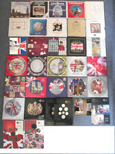 Birthday gift? Uncirculated UK coin year sets from 1982 to 2012; gatefold sleeve