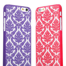 For Apple iPhone 6S & Plus Damask Vintage Pattern Rubberized Matte Hard Case
