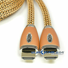 Eurocable24® GoldLine 1.4 b HDMI Kabel High Speed Ethernet 1m 1,5m 2m 3m 7m 10m