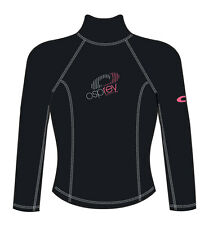 Osprey Ladies Thermal Long Sleeve Rash Vest Beach Swim Surf Wear S-XL GA0404