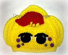 BJ The Yellow Dinosaur Barney the Dinosaur Friends Beanie Hat Handmade Crochet