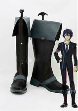 Anime The Black Bullet Rentaro Satomi cosplay Accessories black PU shoes boots