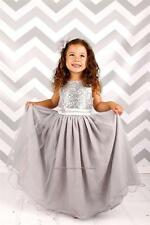 Flower Girl Dress Sequins Pageant Party Dress Long Dress