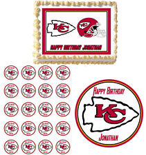 Kansas City Chiefs  Edible Birthday Party Cake Topper Cupcake Image Decoration