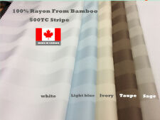 500TC BAMBOO STRIPE  SHEET SET OR DUVET COVER SET MADE IN CANADA