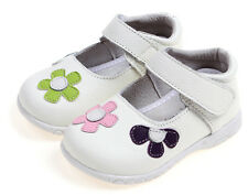 shoeszoo mary jane flower white outdoor leather baby shoes up to 5-6 years