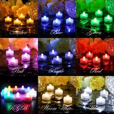 12 24 36 48 60 LED Submersible Waterproof Wedding Decor Party Tealight Flameless