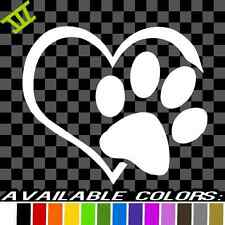 Heart Paw Vinyl Decal car truck sticker bumper window adopt bully Heart cat dog