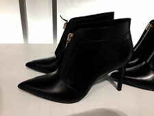 ZARA LEATHER ANKLE BOOT WITH ZIP  36-41 Ref. 5106/301