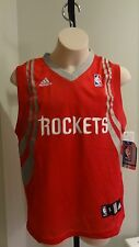 NWT NBA Adidas Houston Rockets Replica Away Youth Red Jersey - Size Small (8)