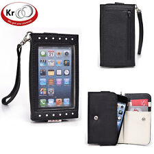 Kroo Clutch Purse with See Thru Screen for Apple iPhone 5 5s 5C