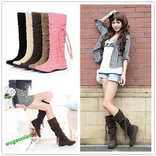 Women Lady Flat Over Knee High Shoes Long Riding Winter Boots 6 Colors 10 Sizes