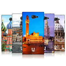 HEAD CASE DESIGNS CITY SQUARES CASE COVER FOR SONY XPERIA M2