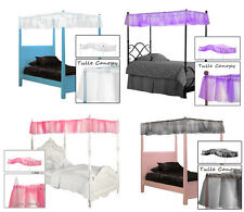FC573 TWIN SIZE PRINCESS DREAM SHEER BED CANOPY FABRIC TOP COVER DRAPE CURTAIN