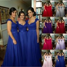 New Chiffon Evening Formal Party Ball Gown Prom Bridesmaid Dress Stock Size 6-18