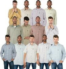 Mens Check Country Classics Long Sleeve Shirts for Work Outdoor