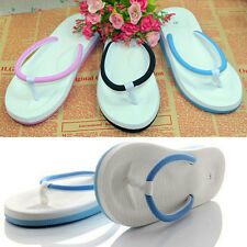 New Women Men's Summer Slip On Flats Slippers T-Strap Flip Flops Sandals Shoes