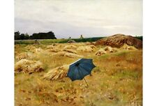 "CHARLES SPRAGUE PEARCE ""Blue Umbrella"" CANVAS ART ! various SIZES available, NEW"