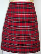 SHORT BISTRO / CAFE / PUB APRON, SCOTTISH TARTAN. POLY COTTON. RED,GREEN OR BLUE