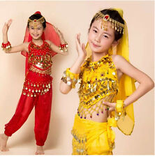 beautiful Indian dance dress costumes suit Children's belly dance costumes