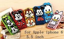 New Brand Daisy Minnie Cartoon Zoo 5.5 Inch Cover Case For Apple IPhone 6 Plus
