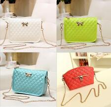 Retro Quilted Chain Shoulder Bags Tote Purse PU Leather Women Messenger Bag