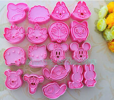 Various Cartoon Cookie Fondant Cake Sugarcraft Chocolate Plunger Cutter Mold new