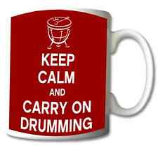 KEEP CALM AND CARRY ON DRUMMING  Mug/Cup/Present/Gift/Occasion