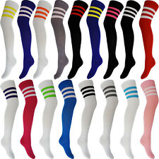 NEW WOMENS LADIES OVER KNEE ANKLE SOCKS 118 118  REFEREE HEN STAG PARTY STRIPE