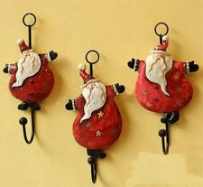 Christmas Xmas Santa Home Decor Clothes Hat Bag Resin Hanger Hook Wall Mounted